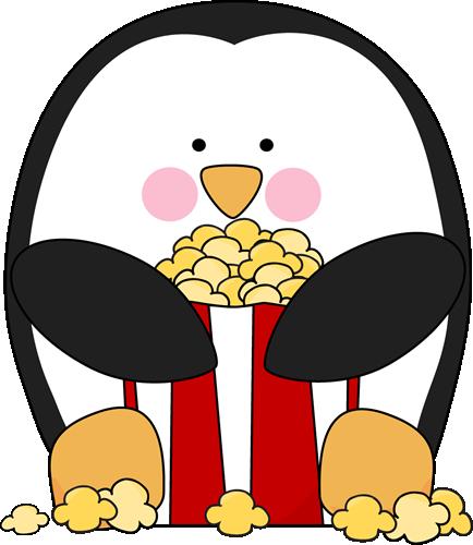 Penguin Eating Popcorn