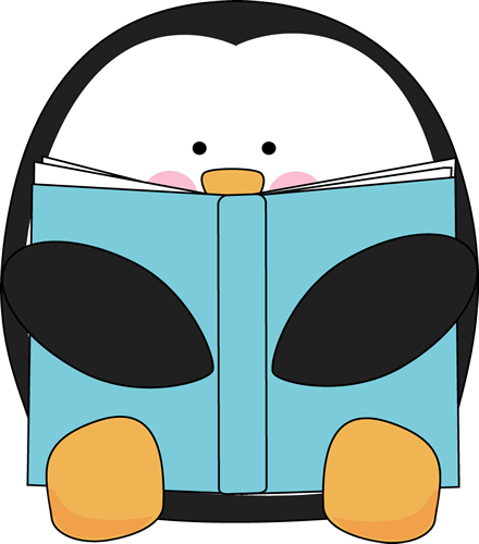 Penguin Reading a Book