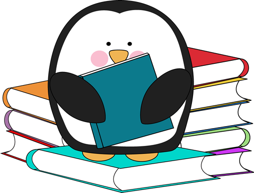 Penguin with Books