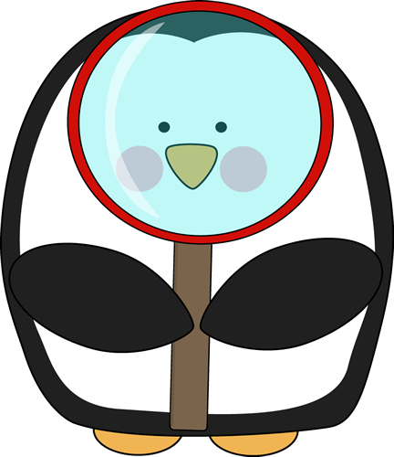 Penguin with a Magnifying Glass