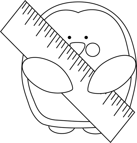 Black and White Penguin with a Ruler