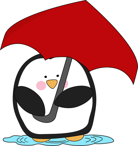Penguin Holding an Umbrella