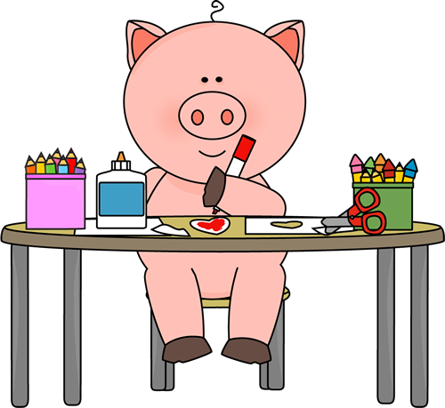 Pig Coloring in Art Class
