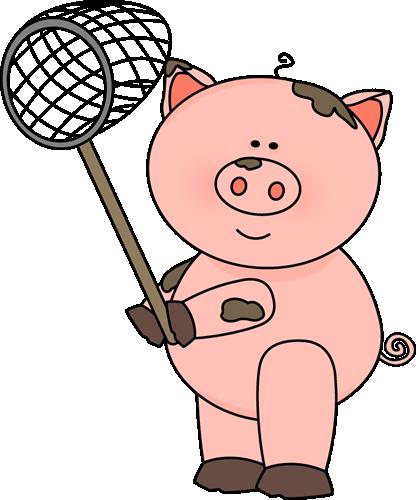 Pig Holding a Net