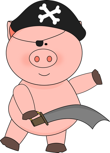 Pig Pirate with a Sword