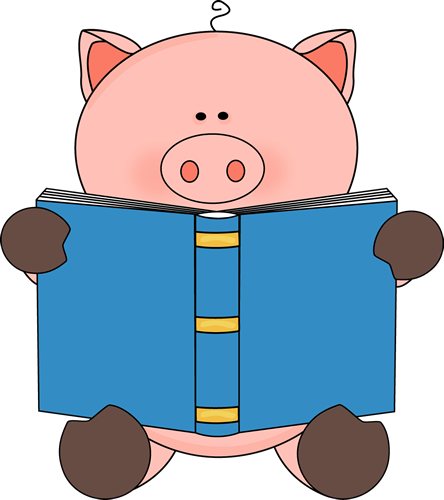 pig reading a book clip art pig reading a book image rh mycutegraphics com Pig Silhouette If You Give a Pig a Pancake