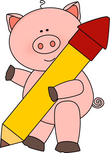 Pig with a Big Pencil