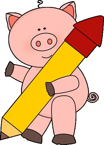 Pig with a Big Pencil
