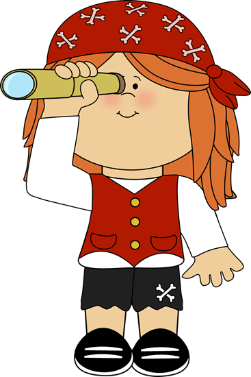 Girl Pirate with Telescope