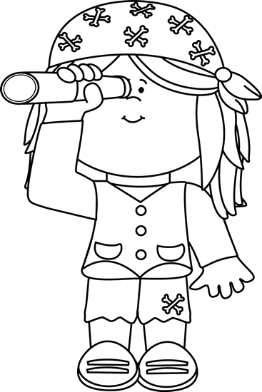 Pirate ship clip art black and white - photo#21