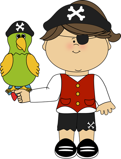 Pirate Girl with a Parrot with a Parrot