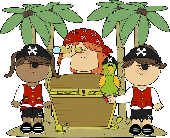 Pirate Girls with Treasure