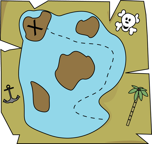 Pirate Treasure Map Clip Art - Pirate Treasure Map Image