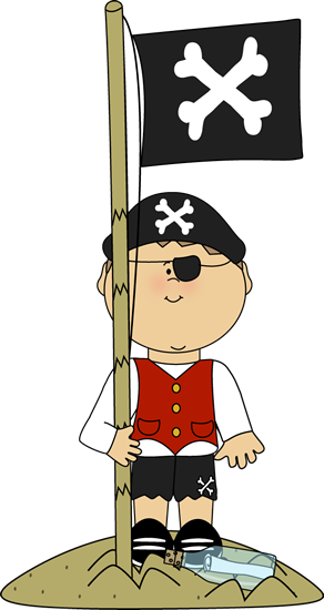Pirate with Pirate Flag