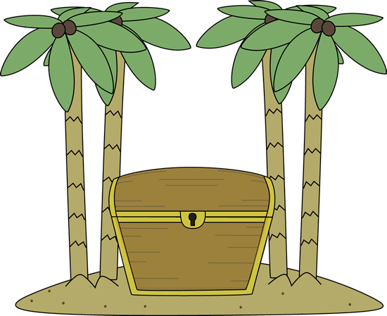 Treasure Chest on an Island