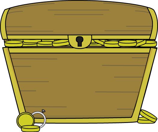 Treasure Chest Filled with Treasure