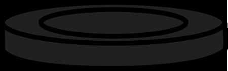 Black Checker Piece Clip Art
