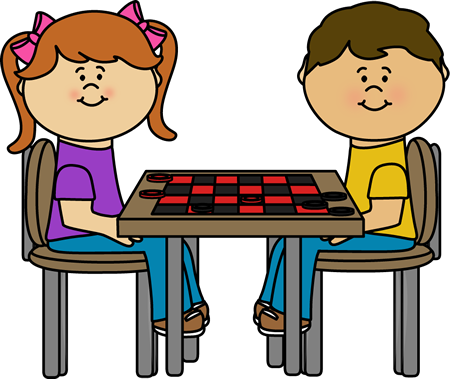 Kids Checker Table Clip Art