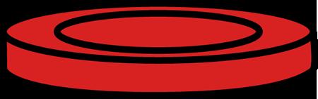 Red Checker Piece Clip Art