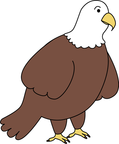 Bald Eagle Clip Art Image - brown and white bald eagle.