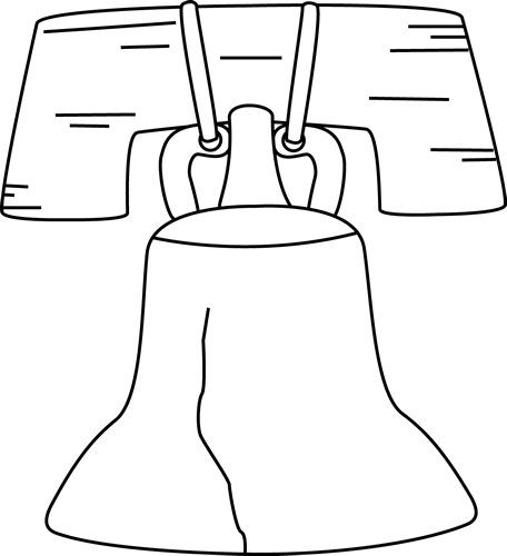 Black and White Liberty Bell Clip Art - Black and White ...