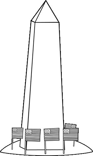 Black and White Washington Monument