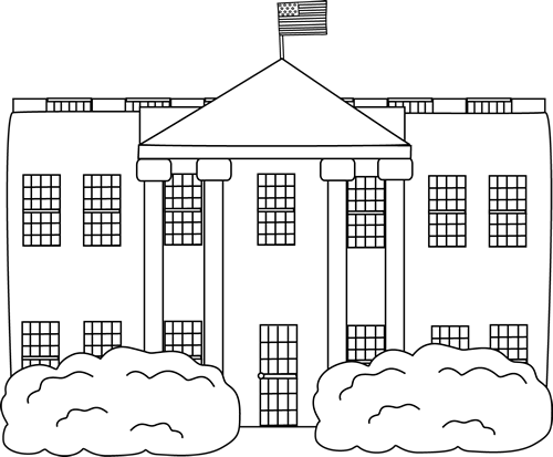 Black and White White House