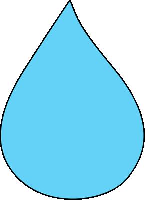 Blank Raindrop Clip Art - Blank Raindrop Image