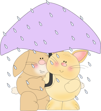 Bunnies in the Rain