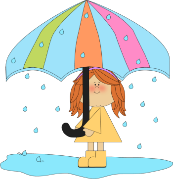 Clip Art Rainy Clipart rain clip art images girl playing in the rain