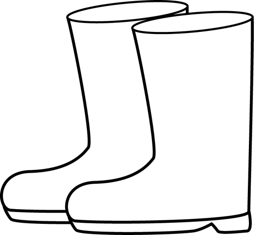 black and white rain boots clip art black and white rain