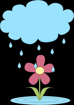 Clip Art Clip Art Rain rain clip art images cloud over a flower