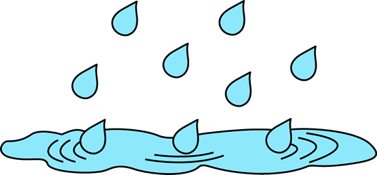Rainpuddle on Coloring Page Of An Umbrella With Raindrops