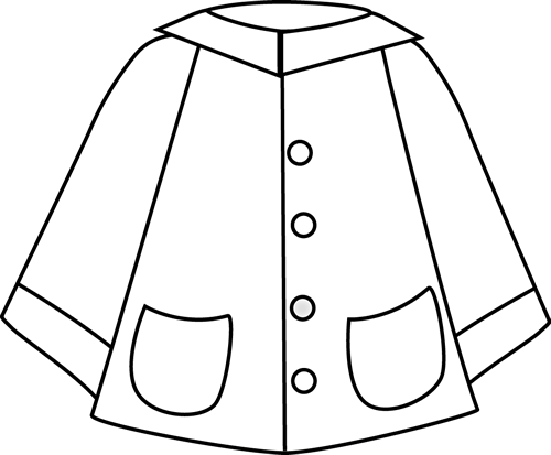 Black and White Raincoat
