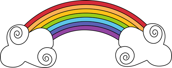 Rainbow and Swirly Clouds