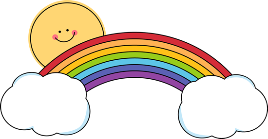 Sun Peeking Over Rainbow