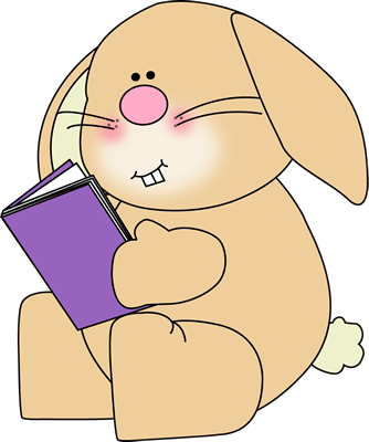 Bunny Reading School Book Clip Art