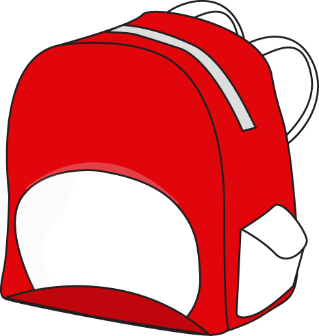 Red and White Backpack
