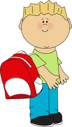 School Boy Wearing a Backpack Clip Art - School Boy Wearing a ...