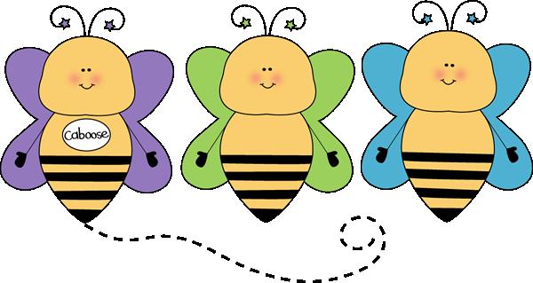 Bee Caboose Clip Art