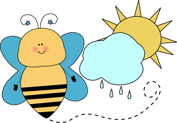 Bee Classroom Weather Monitor Clip Art