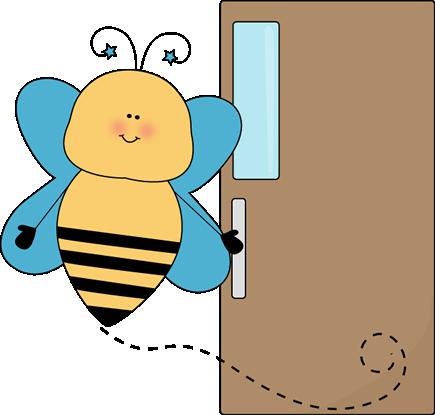 Bee Door Holder Clip Art