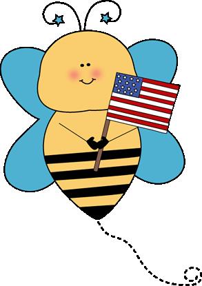 Bee Flag Holder Clip Art
