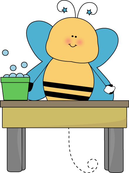 Bee Table Washer Clip Art