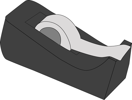 black tape dispenser clip art black tape dispenser. Black Bedroom Furniture Sets. Home Design Ideas