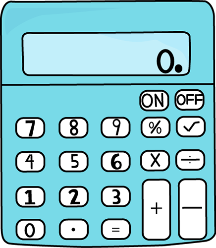 Blue Calculator