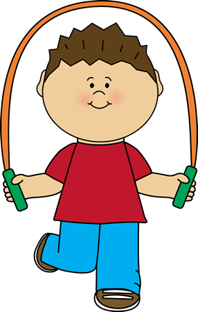 Boy Playing with Jump Rope Clip Art