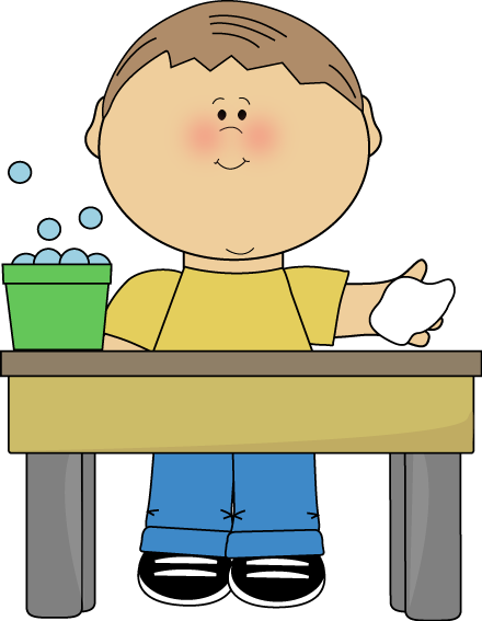 Boy Classroom Table Washer Clip Art