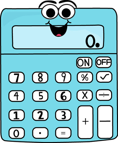Cartoon Calculator Clip Art Image - math calculator with a happy ...