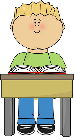 child reading at school desk clip child reading at school desk vector image
